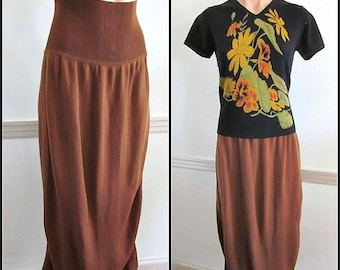 Love Sale 25% off AZZEDINE ALAIA Vintage Skirt / fits S-M / Alaia 80s Skirt / Alaia Midi Skirt / Alaia Maxi skirt / made in Italy