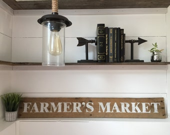 FARMER'S MARKET Hand Painted Reclaimed Wood Sign