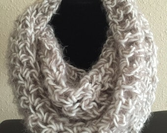 Oatmeal off white infinity scarf