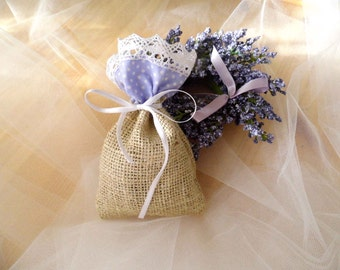 Lavender Wedding, Barn Lavender Wedding Favors, Burlap Gift Sachet, Gift For Guests, Lavender Gift Bags, Baby Shower Gift, Lavender Sachet