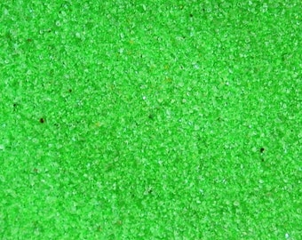 Fluorescent Green Colored Sand ~ 12oz (1 cup vol.)  Fluorescent Green Unity Sand ~ Fl Green Wedding Sand ~ Fluorescent Green Sand ~