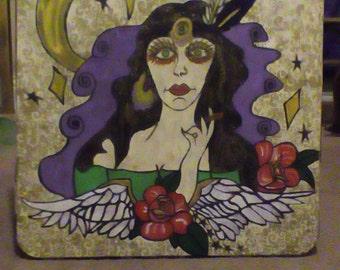 Gypsy lady card table