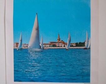Original Vintage 1970s Italian Travel Poster Grado (Gorizia)