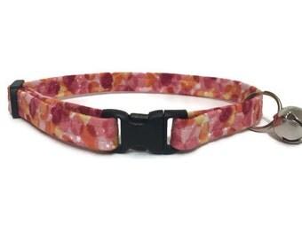 Cat Collar, Pink and Orange