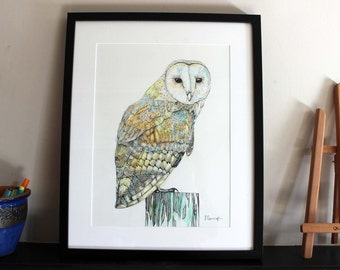 Barn Owl Original Art