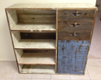 Reclaimed Wood Bookcase Dresser Rustic and Beautiful!
