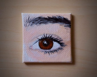 """2""""x2"""" Eye Miniatures Made to Order"""