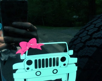 Preppy Girl Jeep Decal