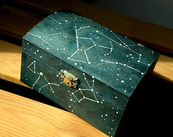 Winter Constellations Wooden Box