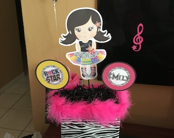 Girl Rock Star Centerpiece