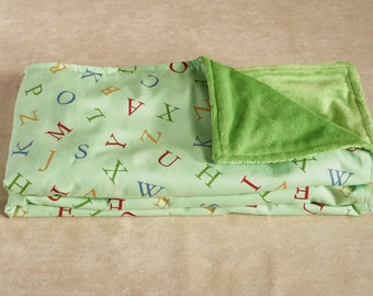 Alphabet Baby Blanket - 1st Baby Blanket - Baby Shower Gift