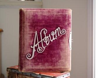 Antique Purple Velvet Photo Album