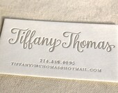 Letterpress Business Cards, Calling Card, Custom, Calligraphy, Photographer, Event Planner, Logo, Script, Simple, Affordable, gold, Chic