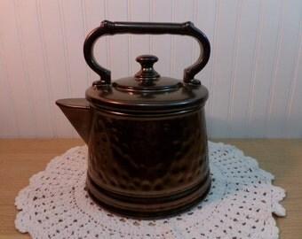 1960's McCoy Tea Kettle/Pot Cookie Jar Bronze Color