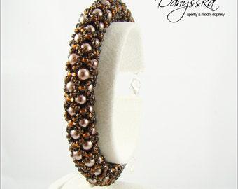 Brown Beadwoven Bracelet