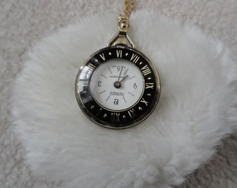Swiss Made Vintage Norbee Wind Up Necklace Pendant Watch