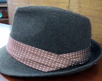 Brown Fedora Hat gentleman's