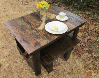 kids picnic table kids desk dining table u0026 bench set reclaimed wood - Wood Picnic Table