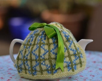 Hand Knitted Fair Isle Tea Cosy, Hand Knitted Fair Isle Tea Cozy, Hand Knitted Tea Cosy, Hand Knitted Tea Cozy, Knitted Tea Cosy, Fair Isle
