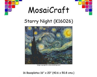 MosaiCraft Pixel Craft Mosaic Art Kit 'Starry Night' (Like Mini Mosaic and Paint by Numbers)