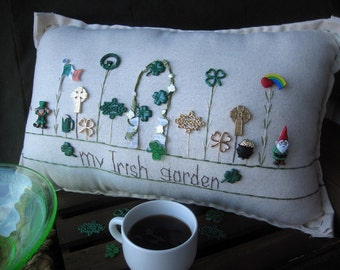 My Irish Garden Pillow (Cottage Style)