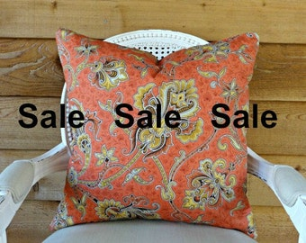 18x18 PillowCover Duralee Angelina  Toss Pillow  Designer Pillow  Decorative Pillow