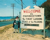 """Provincetown MA vintage postcard """"Welcome to Provincetown""""   about 1965 (chrome unused)"""