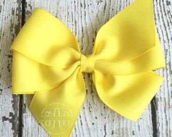 "Pinwheel Hair Bows - 5"" Quintessential Bows - Everyday Bows - Solid Color Bows"