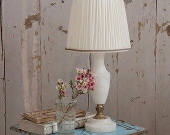 Vintage French Alabaster Lamp