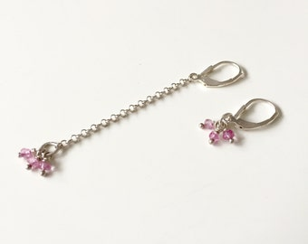 Mistmached earrings topaz