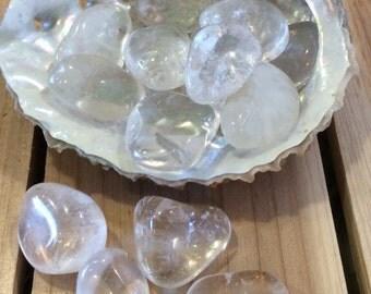 Clear Quartz Medium Tumbled Stones,Spiritual Stone, Healing Stone, Healing Crystal, Chakra Stone