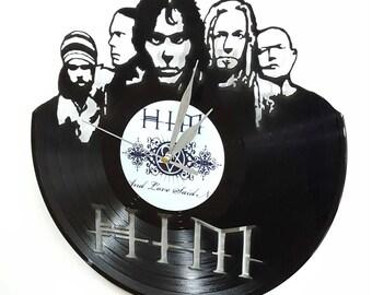 HIM band Vinyl Wall Art -Vinyl Clock or Framed Vinyl Record LP-Great HIM band Gift ,Vinyl Wall Clock,Wall records clock -vinyl record decor