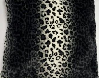 Animal Print Pillow Cover/ Velboa Faux Fur/ Zipper Closure/ Custom Sizes/ Free shipping