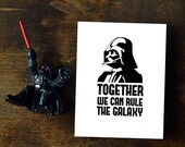 Darth Vader Card Together we can rule - Star Wars Printable Fathers Day Card || INSTANT DOWNLOAD