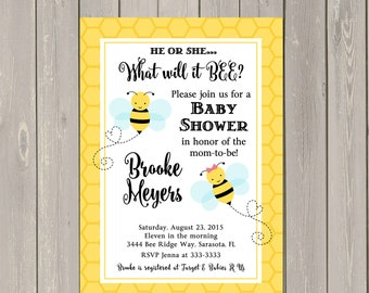 Bee baby shower Etsy