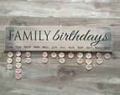 Family Birthday calendar sign with 24 discs