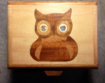Handcrafted Trinket/Jewelry/Tarot Box Made From Upcycled Materials From Pallets - Signed By Artist