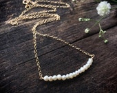 Gold pearl necklace - lovely bridesmaid gift