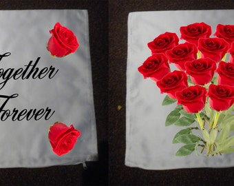 Personalised Cushions - Valentines Day - Together Forever - Style 2a