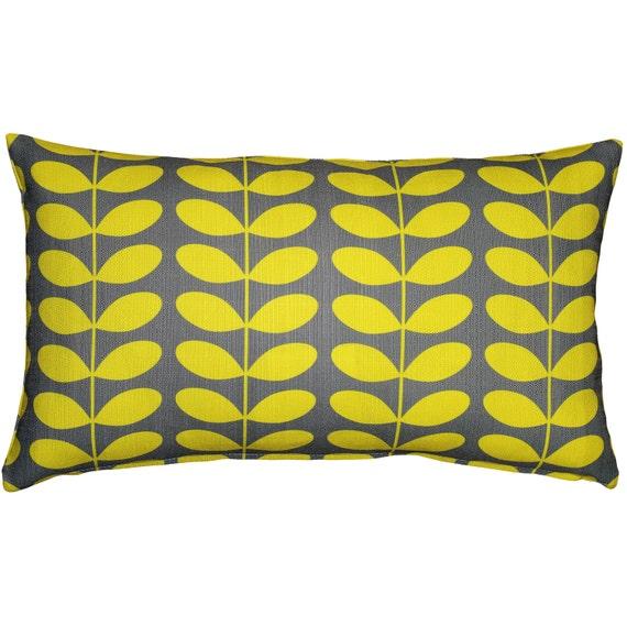 Mid-Century Modern Yellow Throw Pillow 12x20