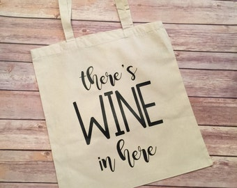 There's wine in here tote bag