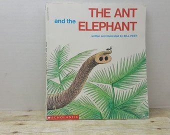 The Ant and The Elephant, 1995, Bill Peet, vintage kids book