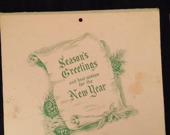 1965 Clover Creamery Calendar. ROANOKE Virginia.