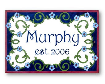 Custom family name sign, Family established sign, Outdoor last name sign, Custom address sign, Family name plaque