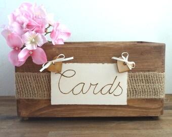 Wedding Card Box Rustic Wooden Card Box Rustic Wedding Card Box Rustic Weddings Advice Box Wishing Well Card Box Wedding Gift