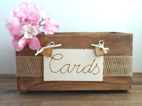 Wedding Card Box Rustic Wooden Card Box Rustic Wedding Card Box Rustic ...
