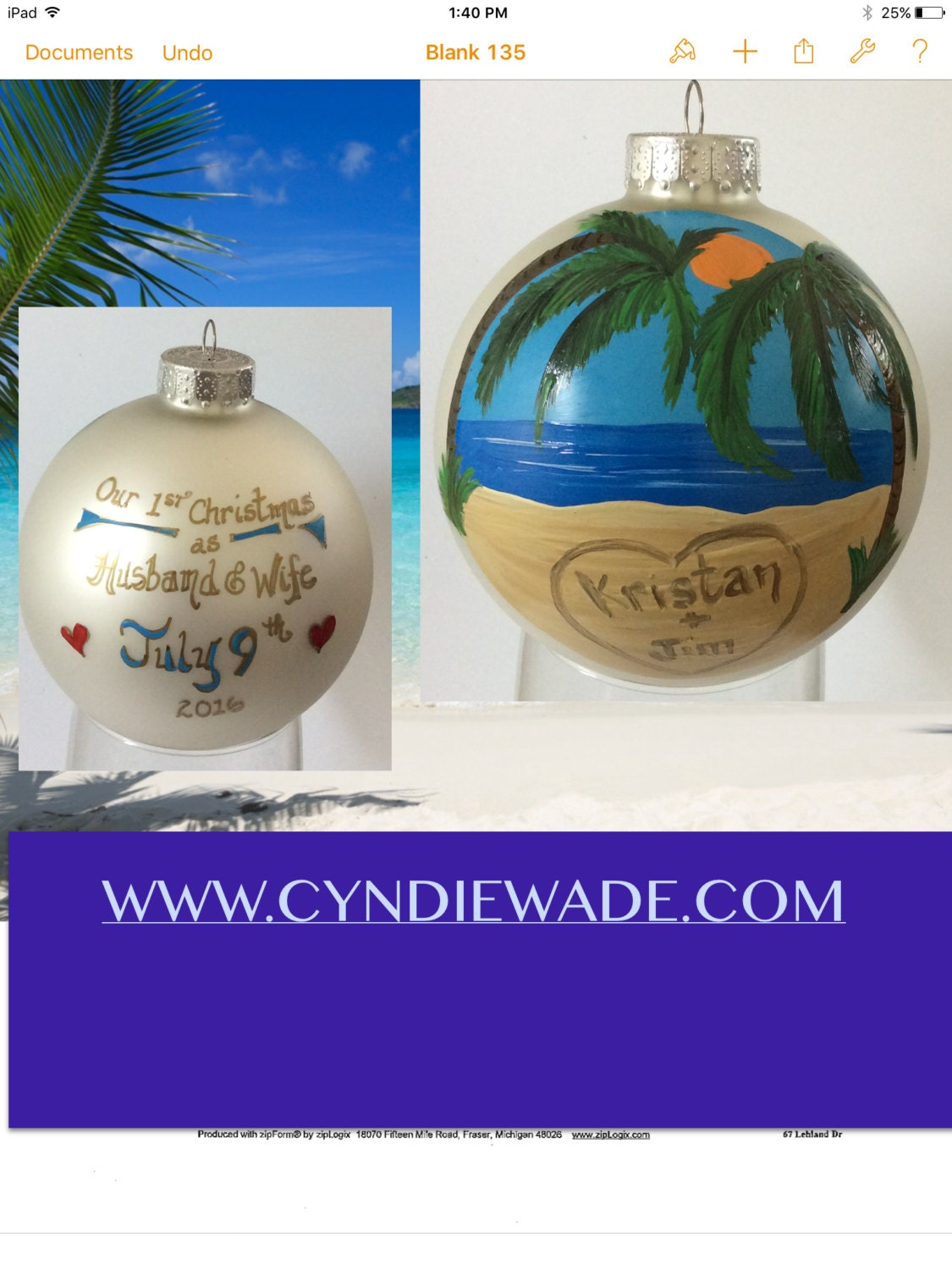Blank ornaments to personalize - Sold By Handpaintedbycyndie