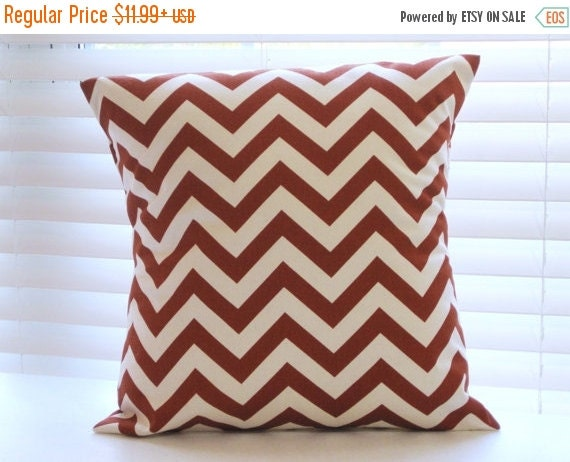 Decorative Pillows Outlet : CLEARANCE SALE Pillow Cover Pillows Rust Pillow by PillowsByJanet