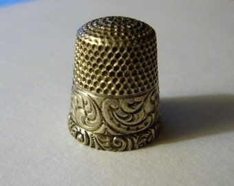 Vintage Sterling Silver Thumble