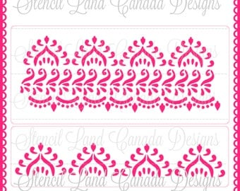 stencils for walls indian stencil etsy 10481